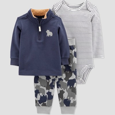Baby Boys' Camo Top & Bottom Set - Just One You® made by carter's Blue 3M