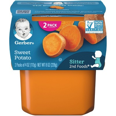 Gerber Sitter 2nd Foods Sweet Potato Baby Meals Tubs - 2ct/4oz Each