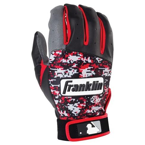 8c0501696c7 Franklin Sports Digitek Batting Glove Gray/Black/Red Digi Adult : Target