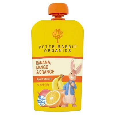 Peter Rabbit Organics Banana Mango & Orange Baby Food Pouch - 4oz