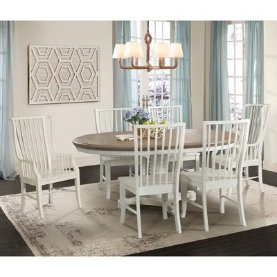 7pc Cayman Dining Set White - Picket House Furnishings