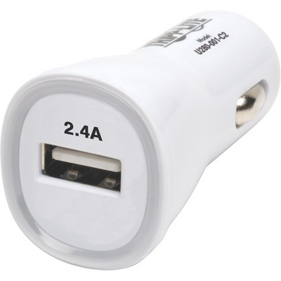 Tripp Lite USB Tablet Phone Car Charger High Power Adapter 5V / 2.4A 12W - 12 V DC Input Voltage - 5 V DC Output Voltage - 2.40 A Output Current