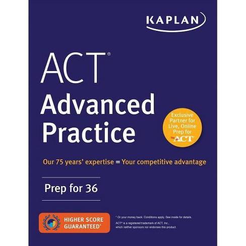 ACT Advanced Practice - (Kaplan Test Prep) (Paperback) - image 1 of 1