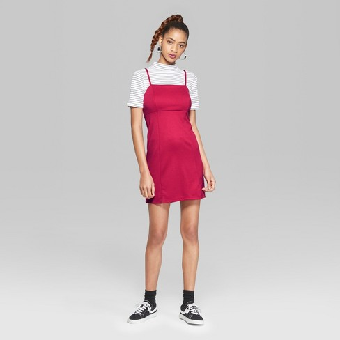 e9719cde97f Women s Strappy Knit Dress - Wild Fable™ Pink   Target