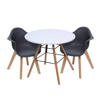 3pc Modern Kids' Table and Chair Set with Beech Legs - Gift Mark