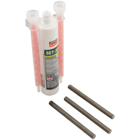S.R. Smith 75-209-5876-SS Swimming Pool Diving Board Epoxy Resin Mounting Installation Kit with 3 Bolts - image 1 of 4