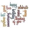Sizzix Thinlits Dies By Tim Holtz Celebration Script Words-Silver Asst Sizes - image 2 of 2