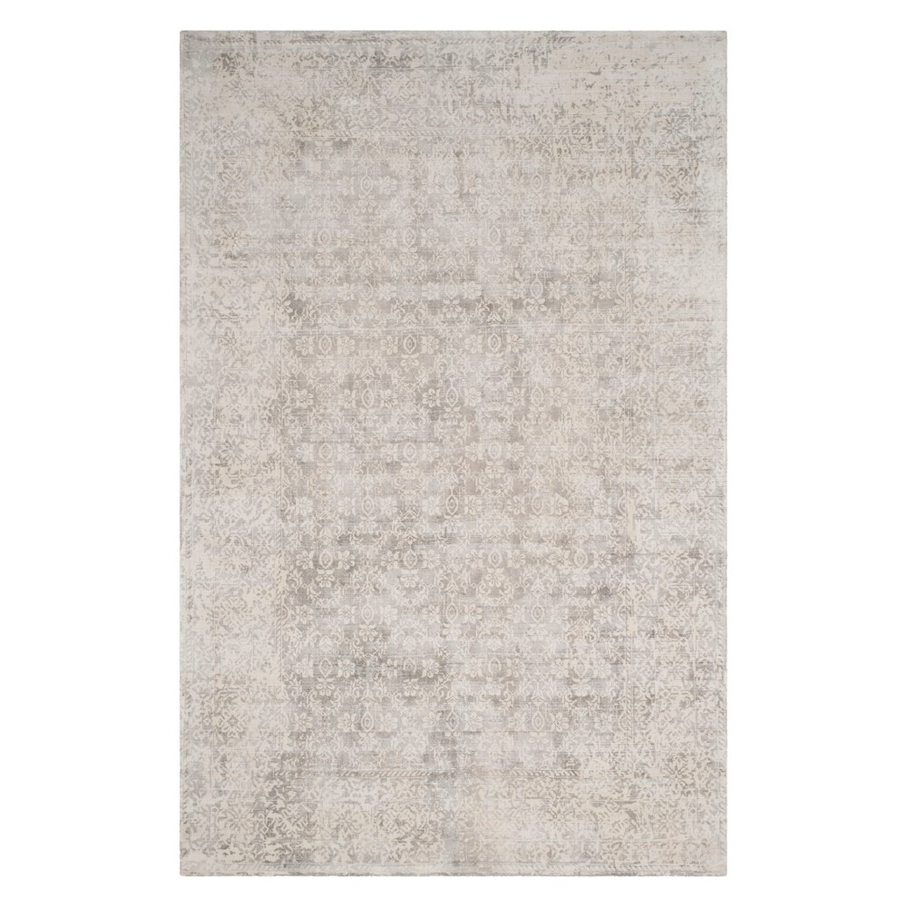 9'X12' Floral Area Rug Ivory/Silver - Safavieh