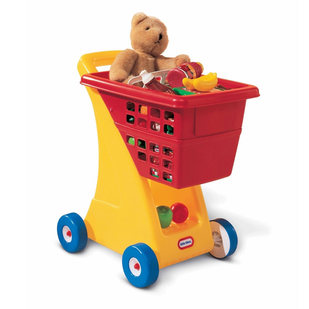 Little Tikes Shopping Cart A toy shopping cart is a must-have for every bedroom or playroom! Our durable and timeless shopping cart promotes imagination and role play. A generously sized basket and easy rolling wheels keep the emphasis on constructive play. Gender: Unisex.