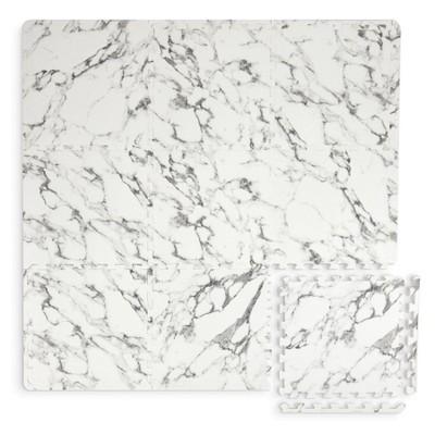 3'x3' Athena Interlocking Floor Tiles White - Brewster