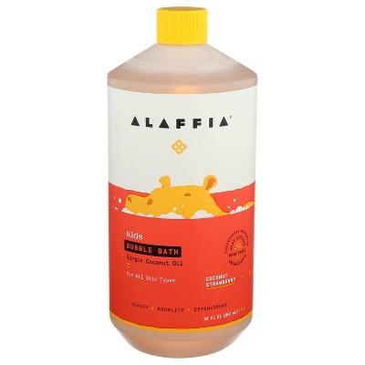 Alaffia Everyday Coconut Baby & Kids Bubble Bath, Coconut Strawberry - 32 fl oz