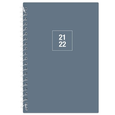"""2021-22 Academic Weekly/Monthly Planner 5"""" x 8"""" Solid Blue - Blue Sky"""