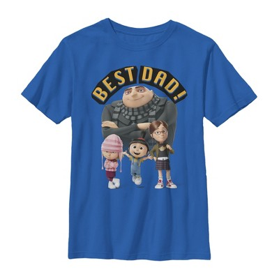 Boy's Despicable Me Father's Day Best Dad T-Shirt
