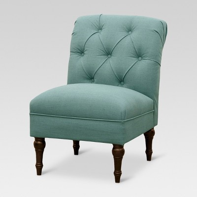 Tufted Rollback Slipper Chair - Teal - Threshold™
