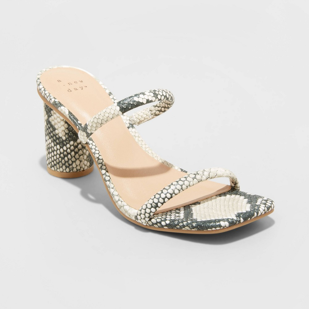 Women 39 S Cass Square Toe Heels A New Day 8482 Gray 8 5