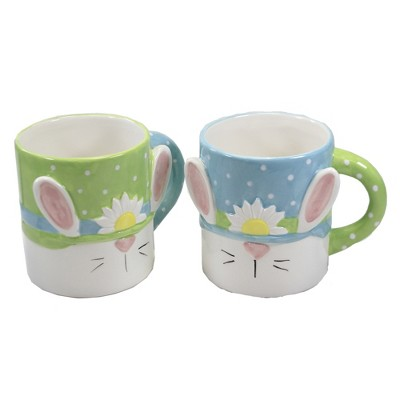 "Tabletop 4.5"" Bright Easter Mug Set Bunny Ears Transpac  -  Drinkware"
