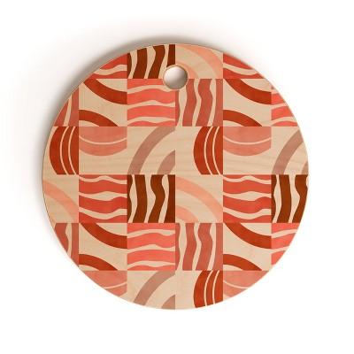 Marta Barragan Camarasa Terracotta Modern Shapes Round Cutting Board - Deny Designs