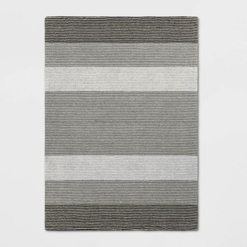 5 X7 Stripe Loomed Area Rug Gray Threshold