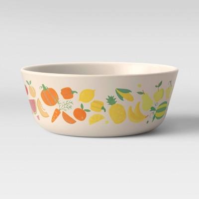 15oz Bamboo and Melamine Fruit Rainbow Kids Bowl - Pillowfort™