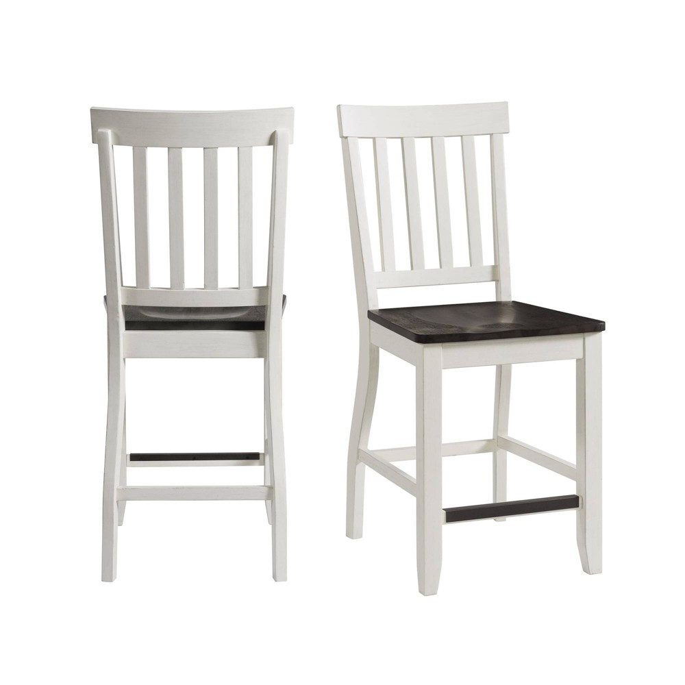 Image of 2pc Jamison Two Tone Counter Height Side Chair Set White - Picket House Furnishings