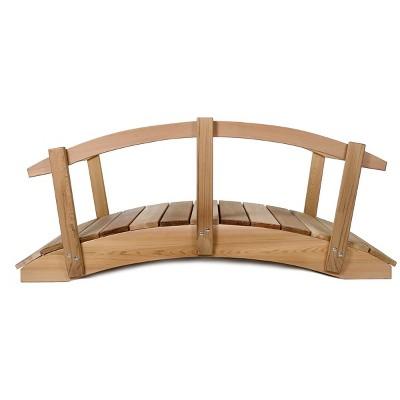 All Things Cedar FB72-R 6 Foot Bridge with Hand Rails, 72 x 36 x 54 Inches