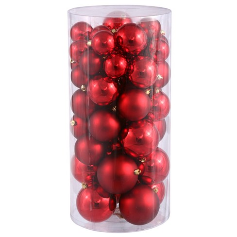 "Vickerman 1.5""-2"" Red Shiny/Matte Christmas Ornament, 50 per Box - image 1 of 1"