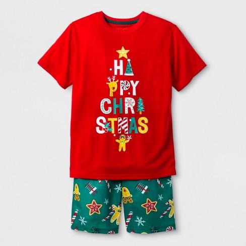 Boys  2pc Short Sleeve Christmas Graphic Pajama Set - Cat   Jack™ Red 4ec3f8a35