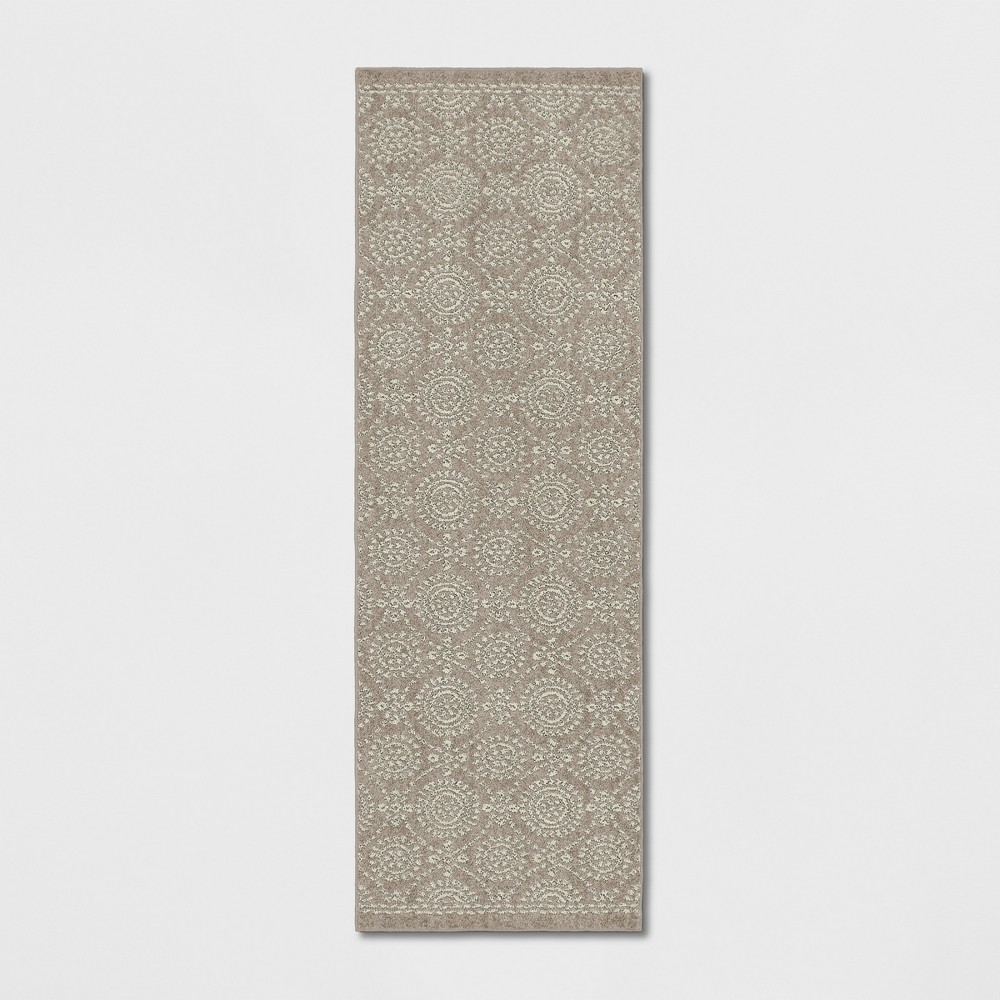 2 39 4 34 X7 39 Circle Pattern Tufted Accent Rug Beige Threshold 8482