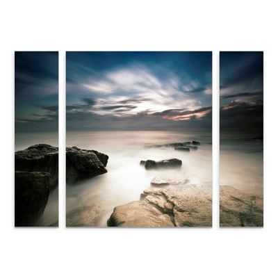 "27""x33.5"" Mel Brackstone 'Morning Breaks' Multi Panel Decorative Wall Art set - Trademark Fine Art"