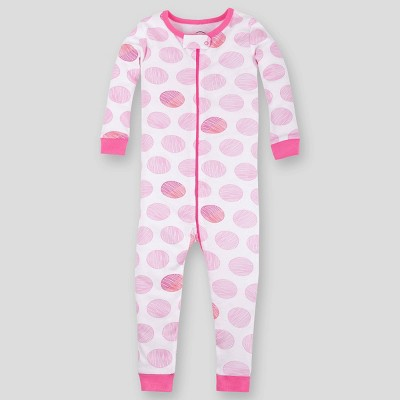 Lamaze Toddler Girls' Dotted Pajama Jumpsuit - Pink