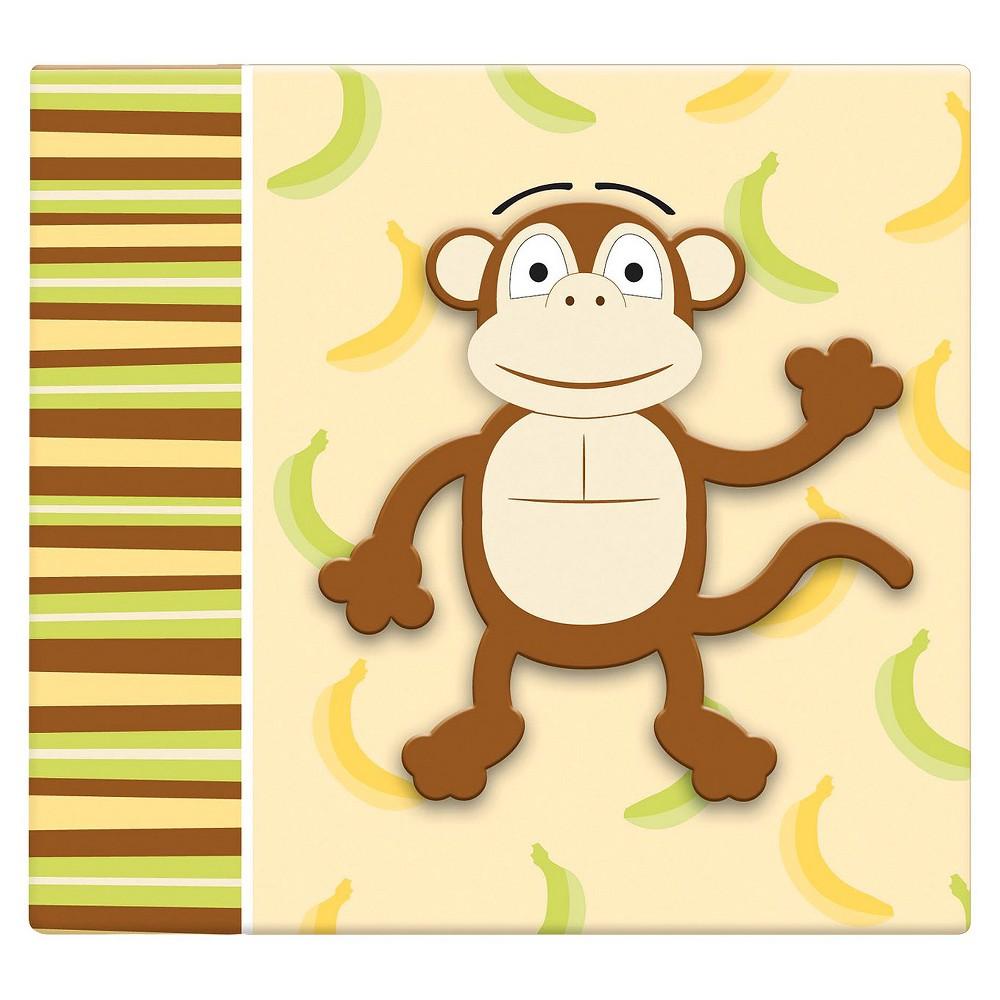 Image of 3D Monkey Scrapbook - (12x12), Brown/Yellow