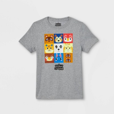 Boys' Animal Crossing Short Sleeve Graphic T-Shirt - Gray