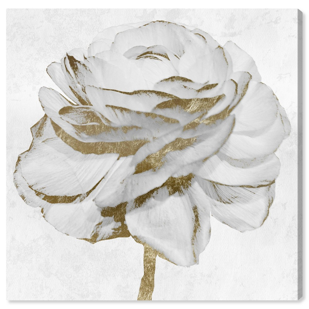12 39 39 x 12 39 39 Peony Unframed Wall Canvas Gold Oliver Gal