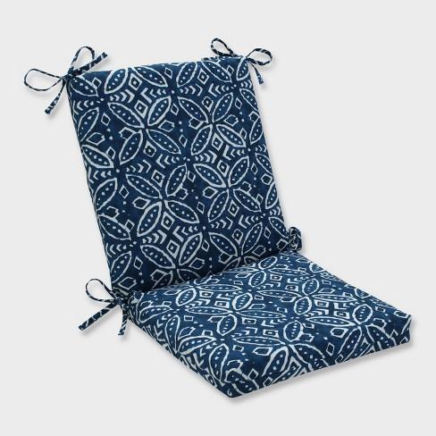 Merida Indigo Squared Corners Outdoor Chair Cushion Blue Pillow Perfect Target