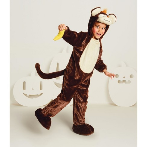 Baby Plush Monkey Halloween Costume Jumpsuit 18-24M - Hyde and Eek! Boutique™ - image 1 of 1