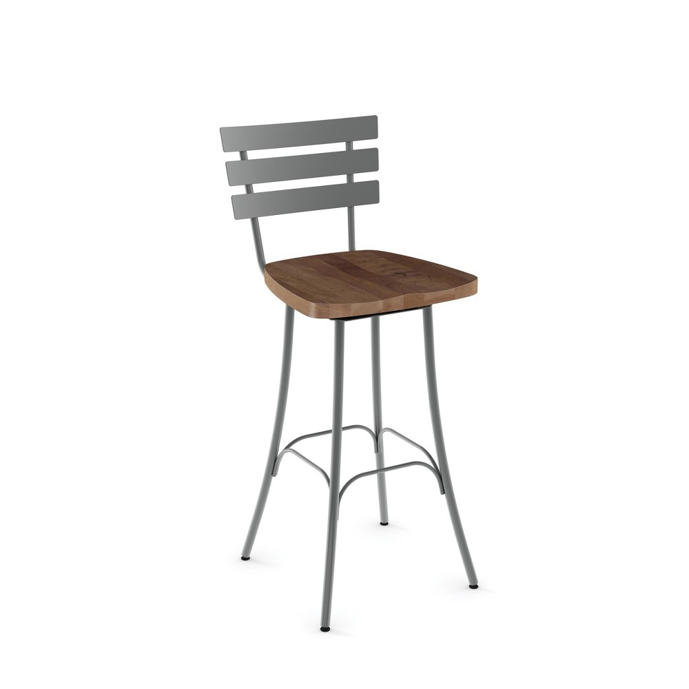 29.5 Amisco Stadium Bar Stool Medium Brown