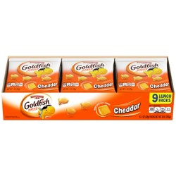 Pepperidge Farm® Goldfish® Cheddar Crackers, 1oz Multipack Tray, 9ct 1oz Single-Serve Snack Packs