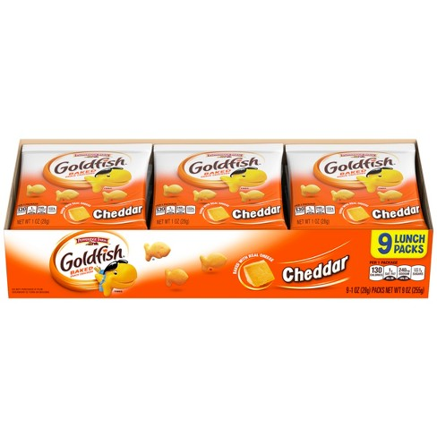 Pepperidge Farm Goldfish Cheddar Crackers - 1oz Multipack Tray - 9ct 1oz Single-Serve Snack Packs - image 1 of 4