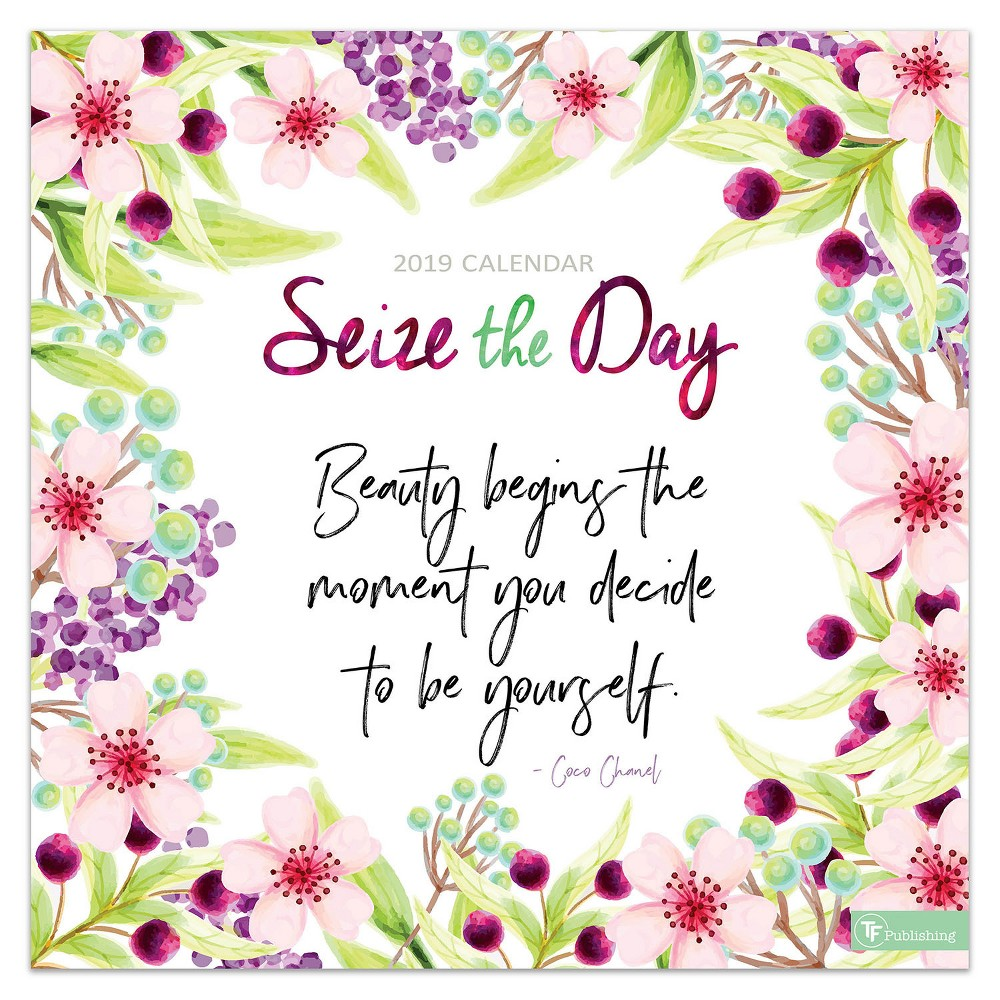 2019 Wall Calendar Seize the Day - TF Publishing, 2019 Tf Publishing Seize The Day Wall Calendar