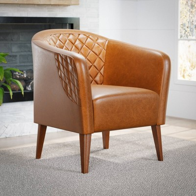 Vera Upholstered Barrel Accent Chair - Brookside Home