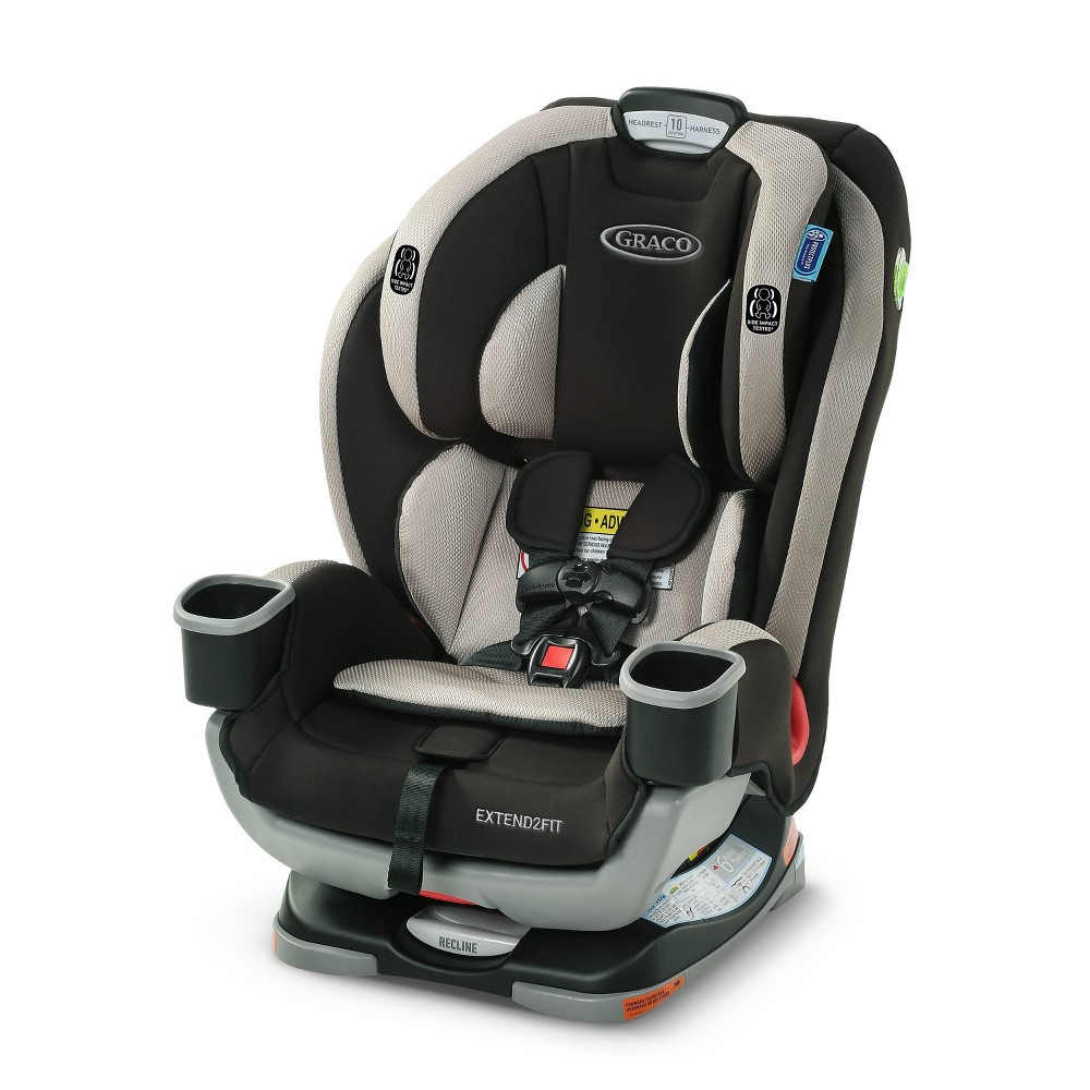 Graco Extend2Fit 3-in-1 Convertible Car Seat, Black Gray