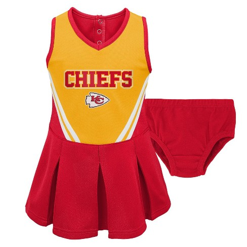 sports shoes 51ce0 3f48f NFL Kansas City Chiefs Toddler Girls' In the Spirit Cheer Set - 2T