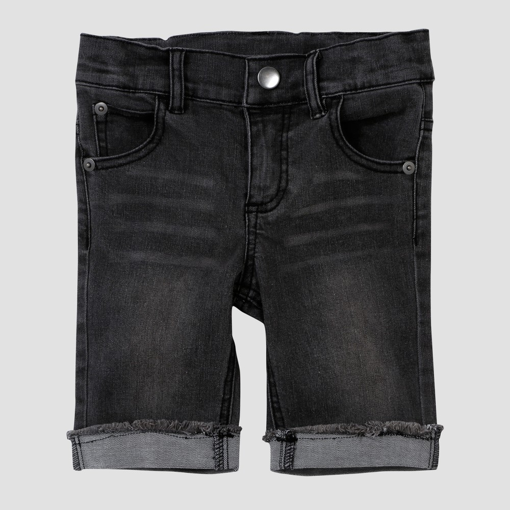 Toddler Boys' Afton Street Denim Shorts - Black 12M
