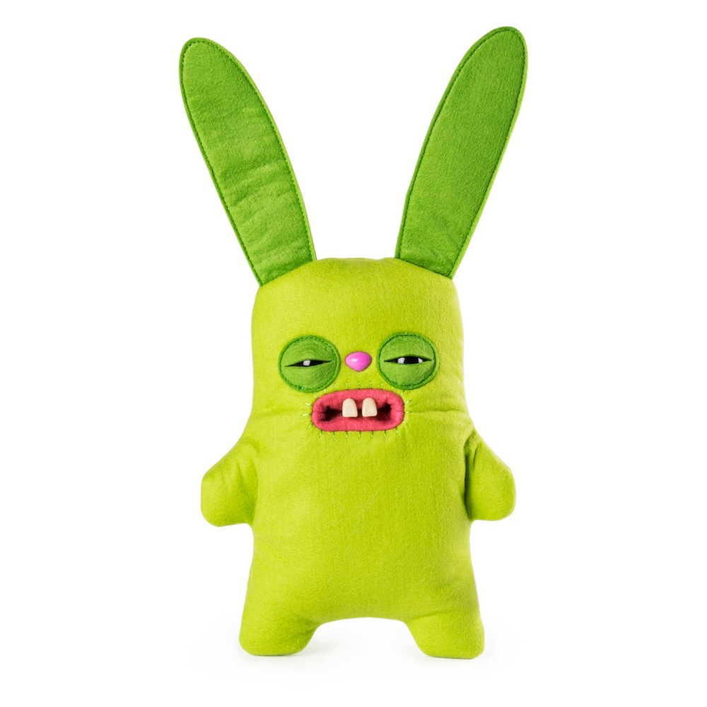 Fuggler Funny Ugly Monster, 9 Rabid Rabbit Plush Creature with Teeth - Green