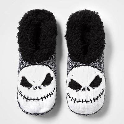 Women's Nightmare Before Christmas Pull-On Slipper Socks - Black 4-10