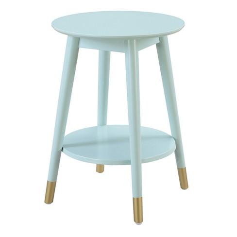 Wilson Mid Century Round End Table with Bottom Shelf - Johar Furniture - image 1 of 4