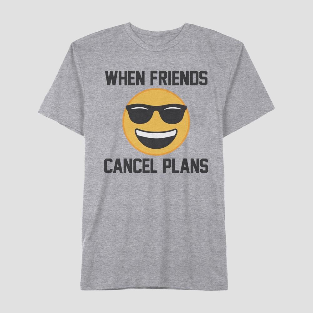 Well Worn Men's Short Sleeve Cancel Plans T-Shirt - Grey Iris 2XL, Gray