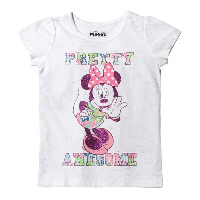 1e50134a2 Toddler Girls Minnie Mouse T- Shirt – White 4T – Target Inventory ...