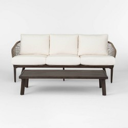 Risley Oversized Rope Patio Sofa - Brown - Project 62™