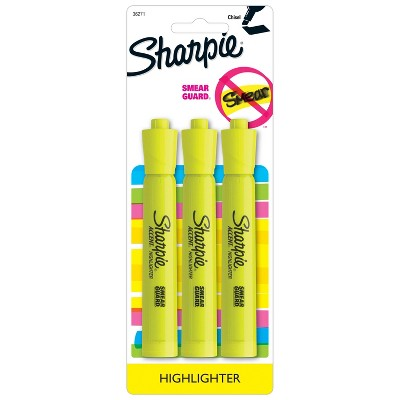 12-Count Sharpie Highlighter Smear Guard Accent Tank Yellow
